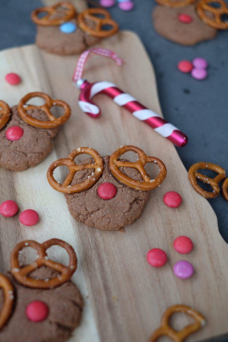 Rudolph-Cookies (Schoko-Erdnuss-Kekse)