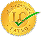 Image of the Lead Counsel logo showing the rating of Aanand Mehtani as a leading employment lawyer