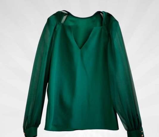 zümrüt yeşili bluz