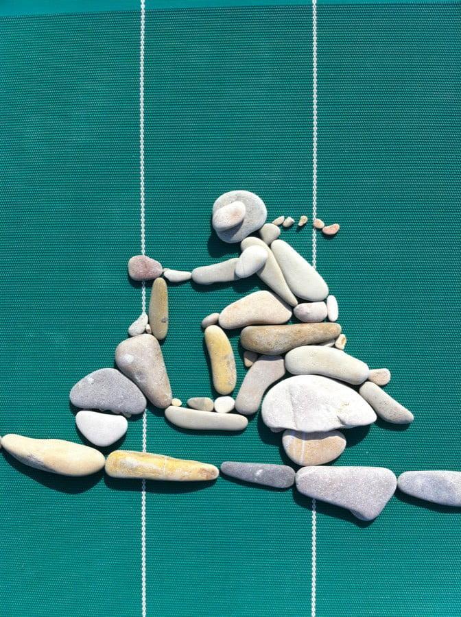 Doğal taşlar ile yapılmış birbirinden harika çalışmalar.