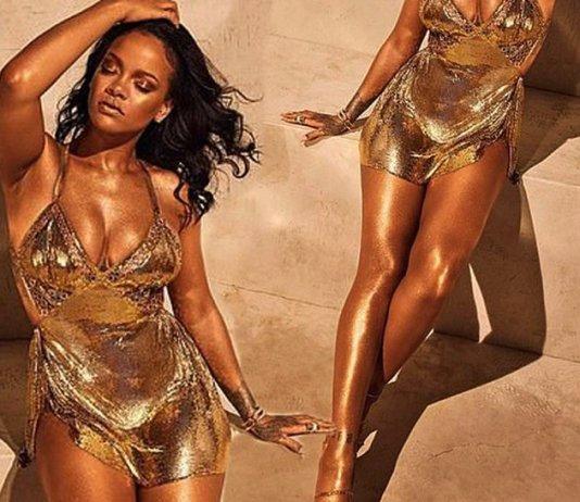 Rihanna güzellik markası Fenty Beauty için poz verdi