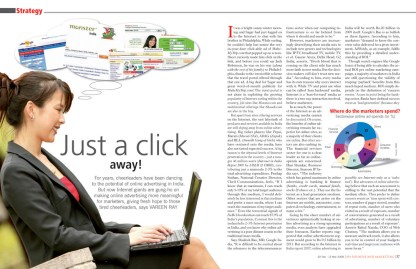 Just a click away - Online marketing strategy