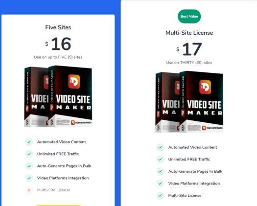 VIDEO-SITE-MAKER-price