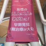 名駅のナナちゃん人形が、ピンクのTシャツ着て名古屋ピンクリボンフェスタ2018を応援!(2018年10月)