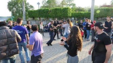 dancing at Oak Garden Theater