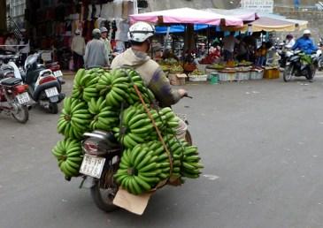 Bananentransport in Dalat