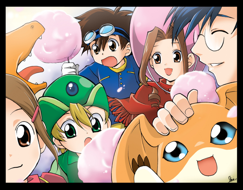 It's much harder to find pics of the girls from Digimon that it is to find the guys from Digimon lol.