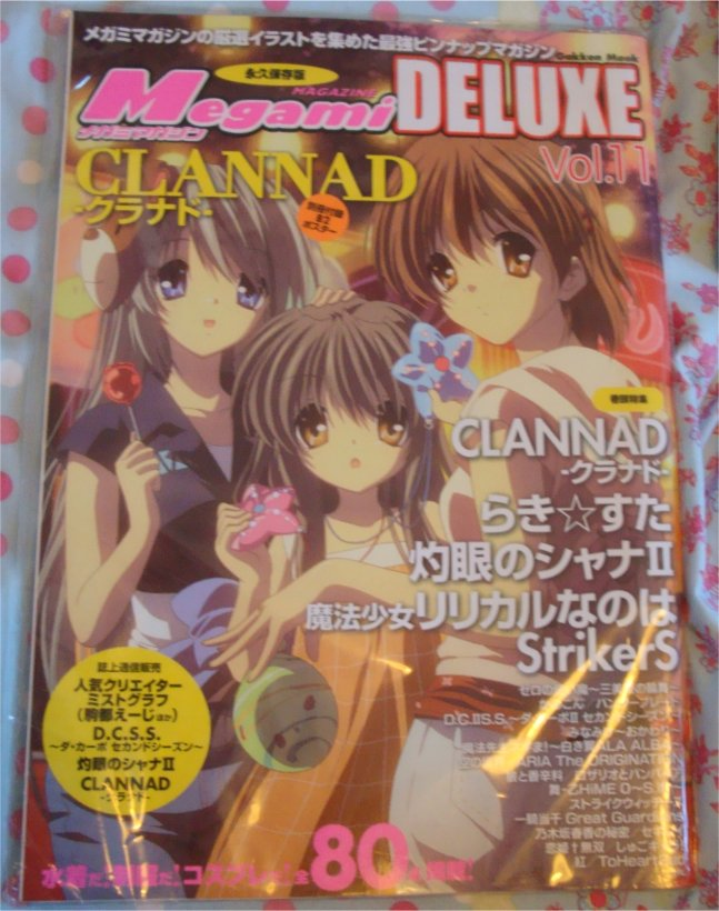 Megami Deluxe vol 11. Lots of Clannad. So much love!!