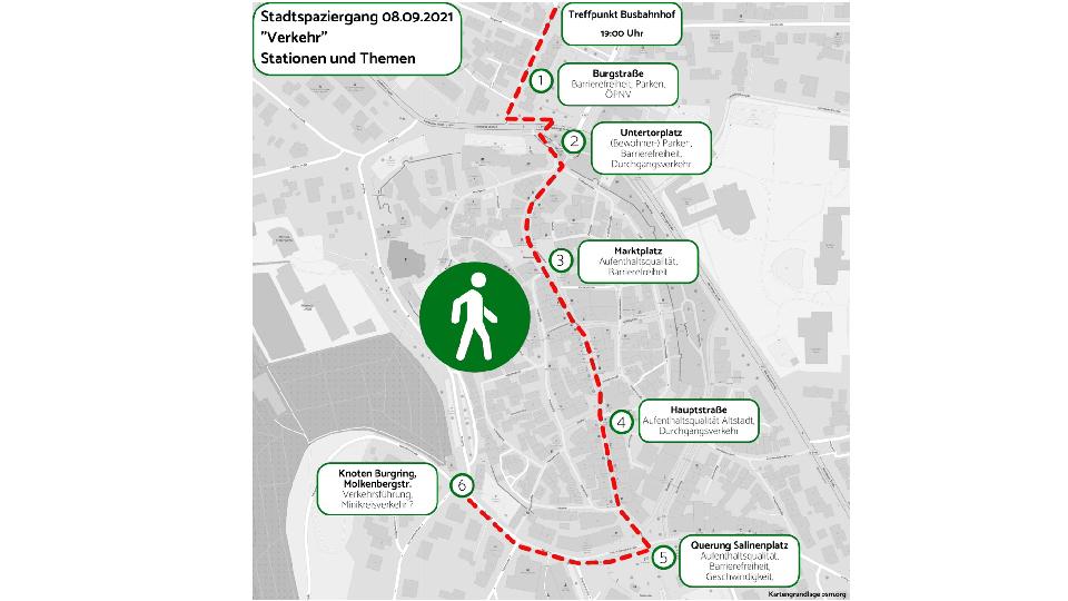 Stadtspaziergang zum Thema Verkehr am 8. September