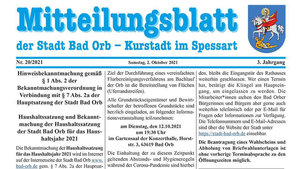 Mitteilungsblatt 2021/20