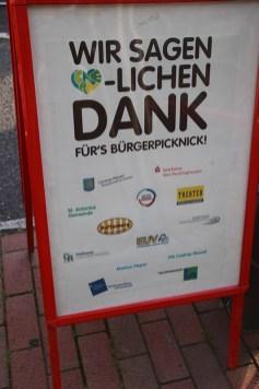 """Bürgerpicknick 2016 """"Ich will keine Schokolade"""""""