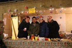 Weihnachtshütten auf dem Marktplatz Ickern
