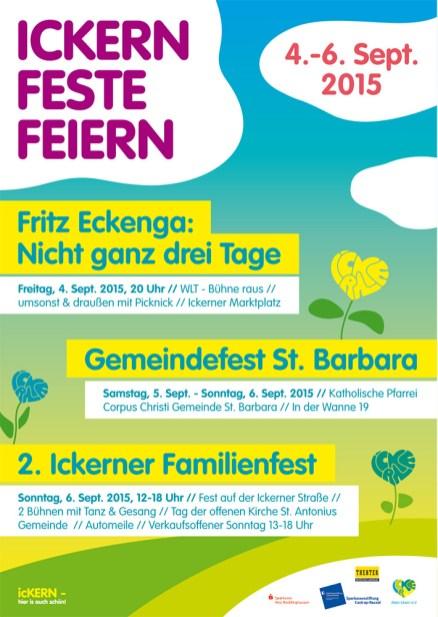 ICKERN FESTE FEIERN 2015 Plakat