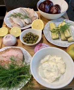 Zutaten für den Heringssalat