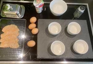 Vorbereitung für die Oeufs Cocotte