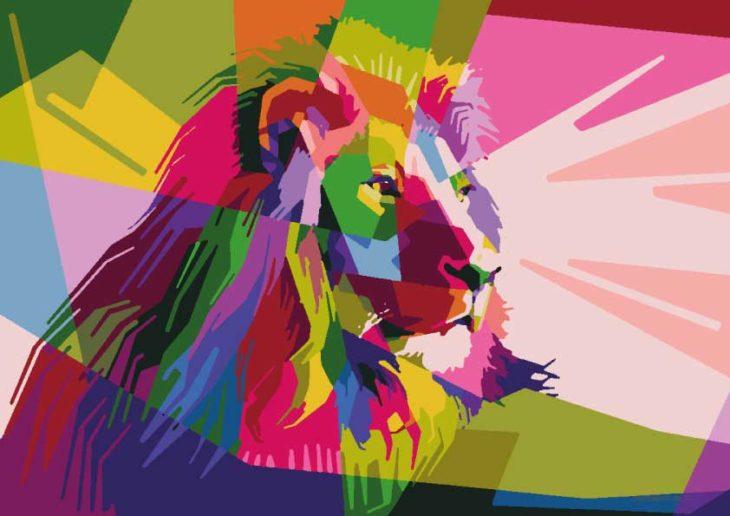 Malen nach Zahlen Löwen herunterladen und ausdrucken