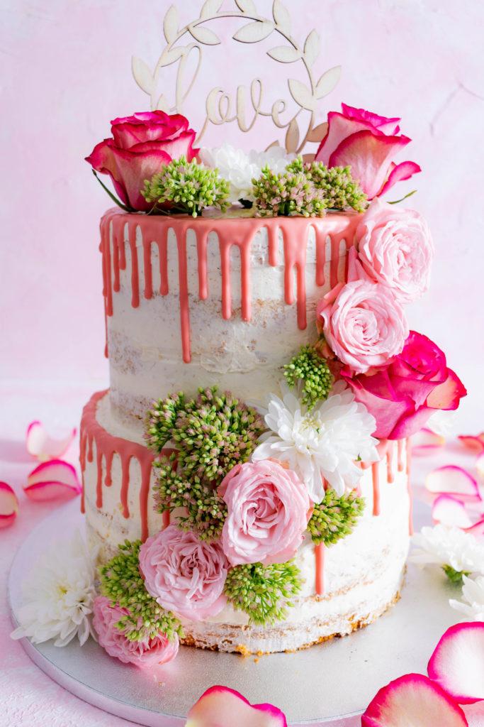 Naked Cake Hochzeitstorte mit zwei Fllungen Rezept  Mein Naschglck