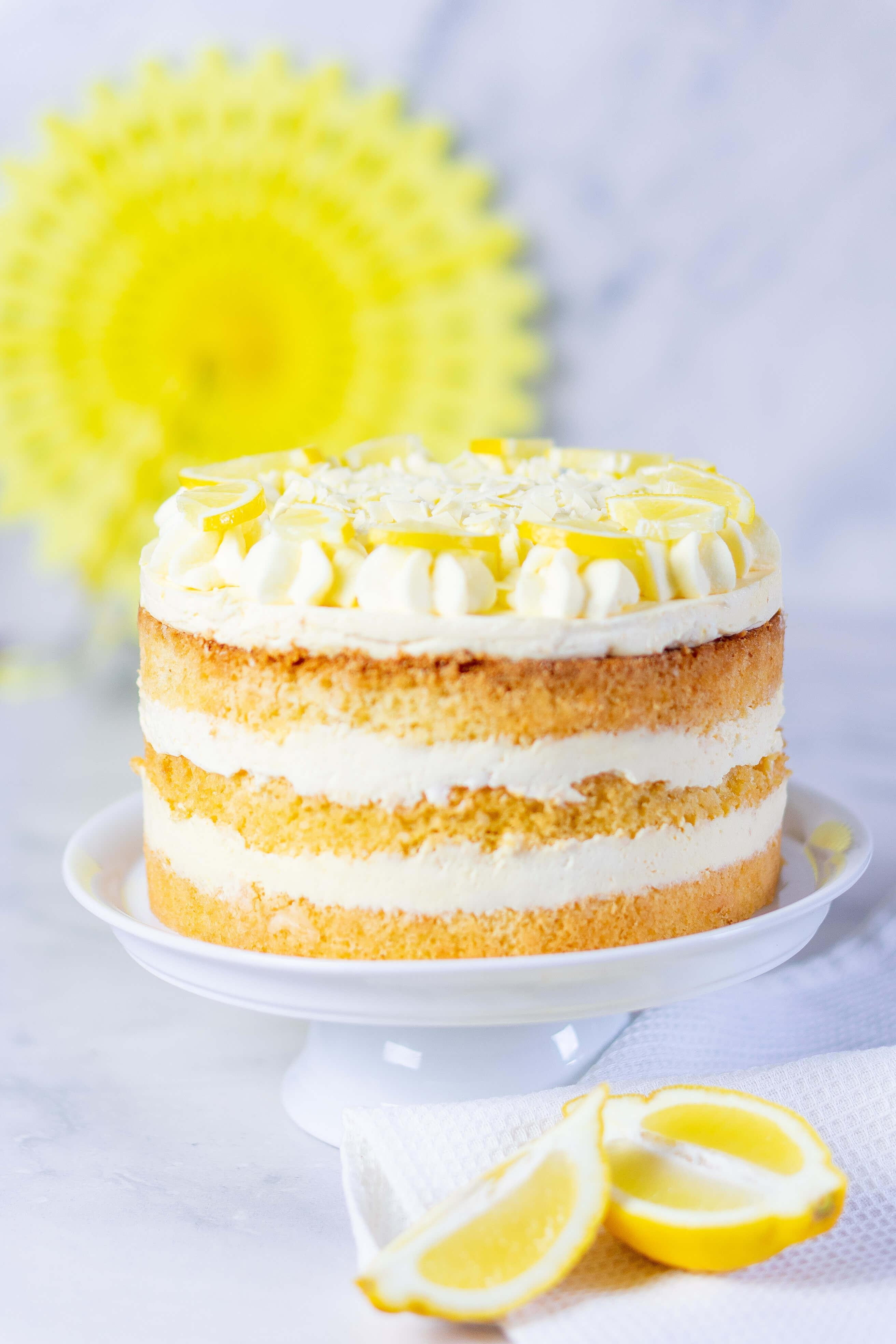 Zitronencreme Torte Mit Lemon Curd Mein Naschgluck