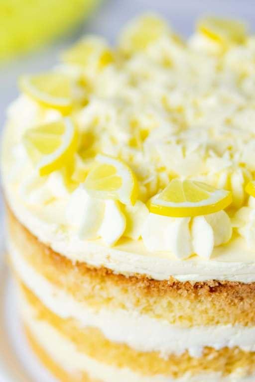 Zitronencreme Torte