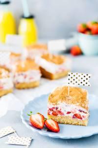 Fantakuchen mit Erdbeeren