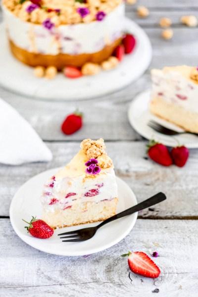Erdbeer-Karamell-Torte