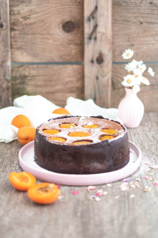 Schoko-Kaesekuchen-mit-Aprikosen