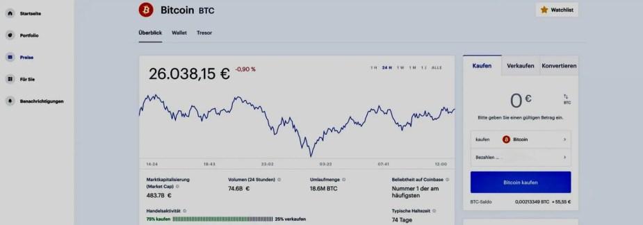Coinbase handeln