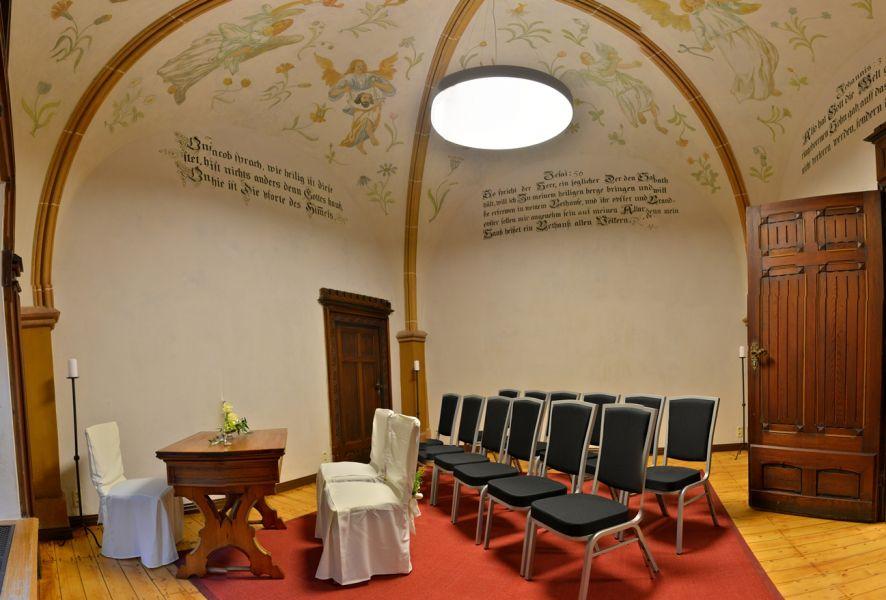 Heiraten in der Kleinen Kapelle auf Burg Mylau in Mylau