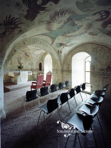 Hochzeit auf der mittelalterlichen Burg Kriebstein in
