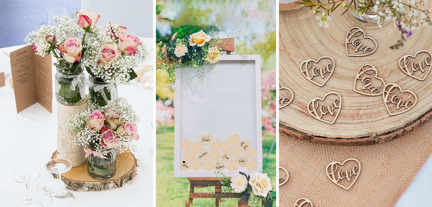 Traumhafte Hochzeitsdeko  MeineHochzeitsdekode