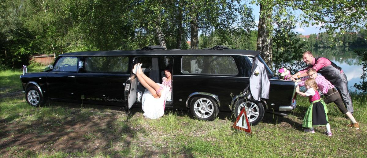 Trabi XXL Trabant Stretchlimousinen in Berlin  Hochzeiten