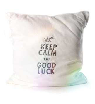 Kissen KEEP CALM AND GOOD LUCK 28x28cm - meindaruma