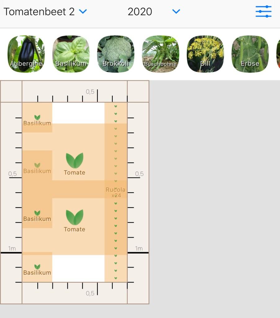 Rezension App Gemüseplaner fürs Gemüsebeet