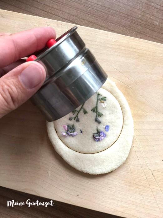Frühlingsblumen in Salzteig