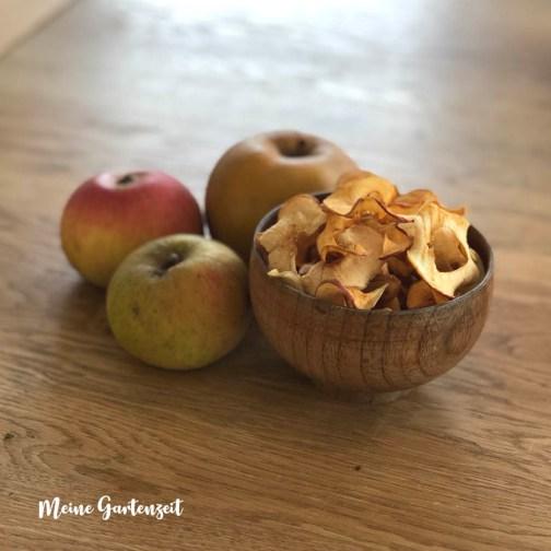 Selbstgemachte Apfelchips