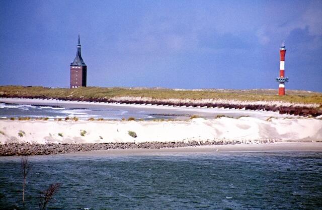 Wangerooge Westturm  und neuer Leuchtturm
