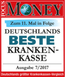 Techniker Krankenkasse - FOKUS-MONEY Ranking
