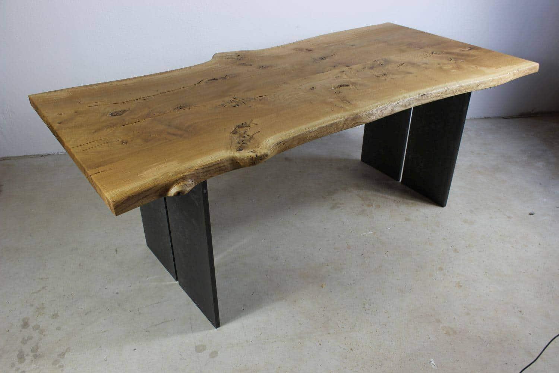 Tischplatte Eiche Massiv Durchgehende Lamellen Arbeitsplatte