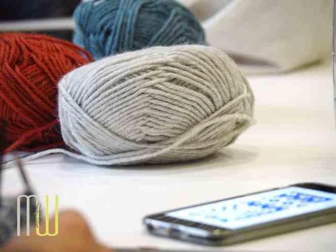 Schöne Garne, schöne Farben und tolle Muster überall auf dem Yarncamp