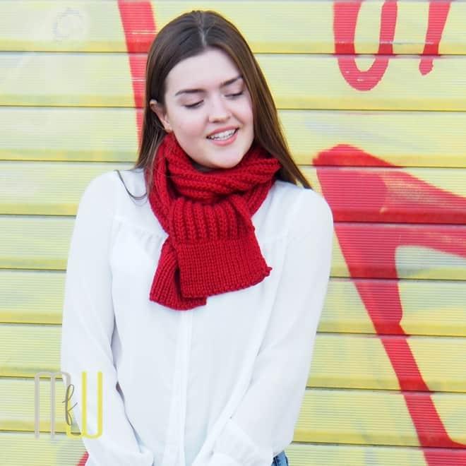 Schal ohne linke Maschen