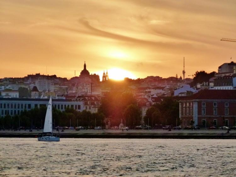 Lissabon im Sonnenuntergang