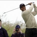 American Tiger Woods during the British Open Golf Championship at Muirfield golf course in Scotland July, 2002.