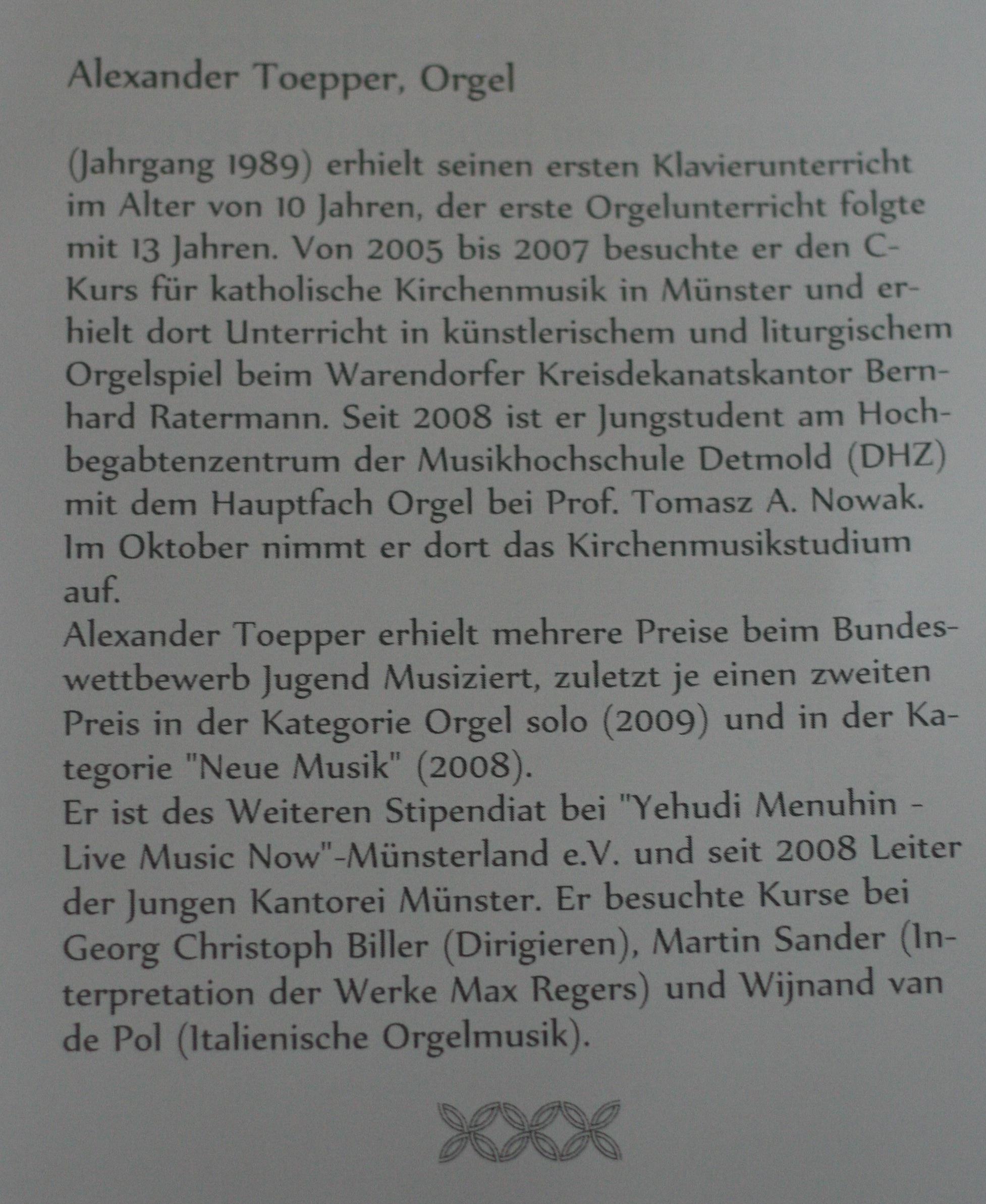 Werdegang von Alexander Töpper