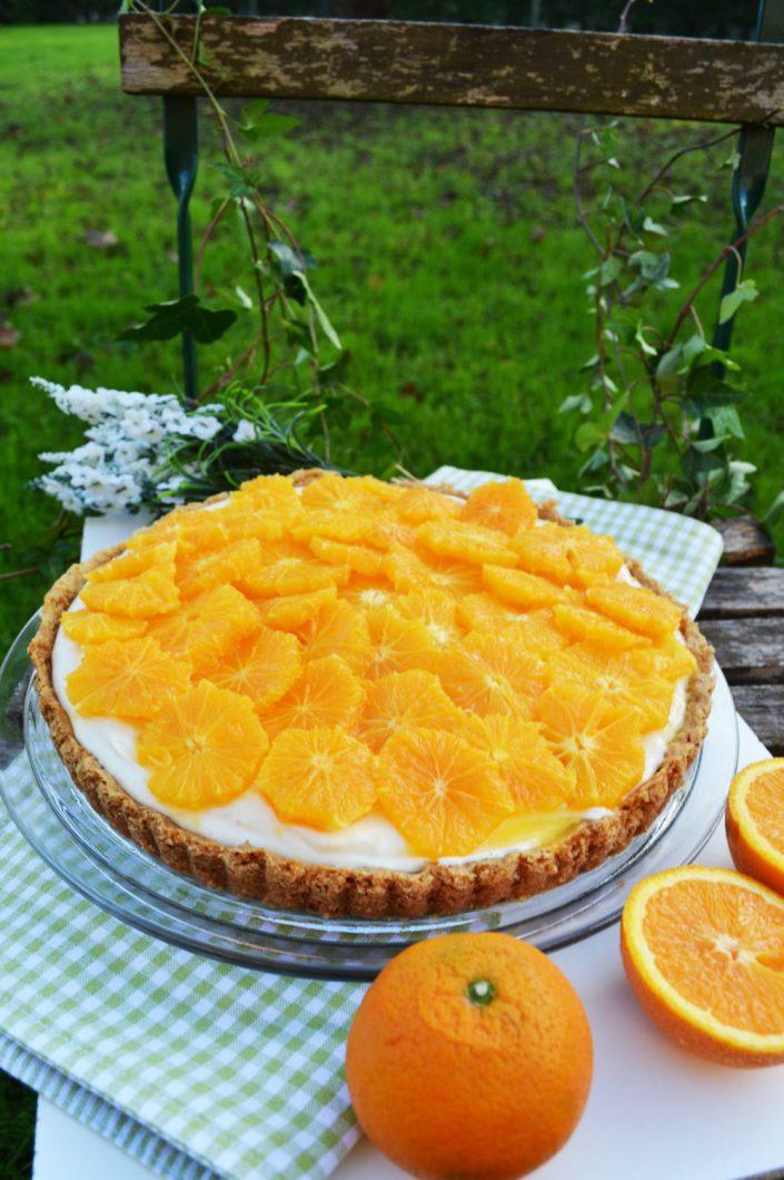 Fruchtig, leicht und lecker! Orangen-Joghurt-Tarte