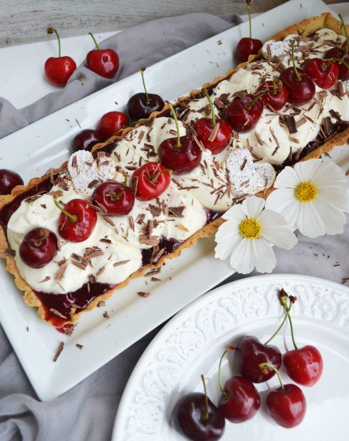 Ein Träumchen! Kirsch-Tarte mit Mascarponecreme