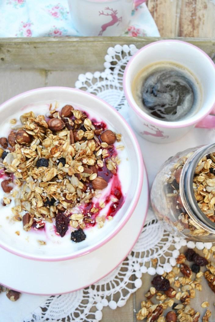 Frühstücks-Glück! Mein liebstes Granola