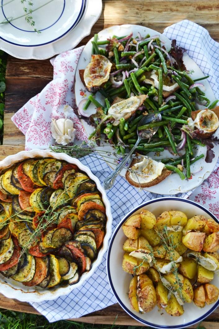 Ein Sommer in der Provence! Tian, Bohnensalat und Ziegenkäse-Kartoffeln