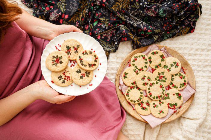 DIE ULTIMATIVEN HOLLY JOLLY CHRISTMAS COOKIES! Vanille Shortbread mit weihnachtlicher Verzierung