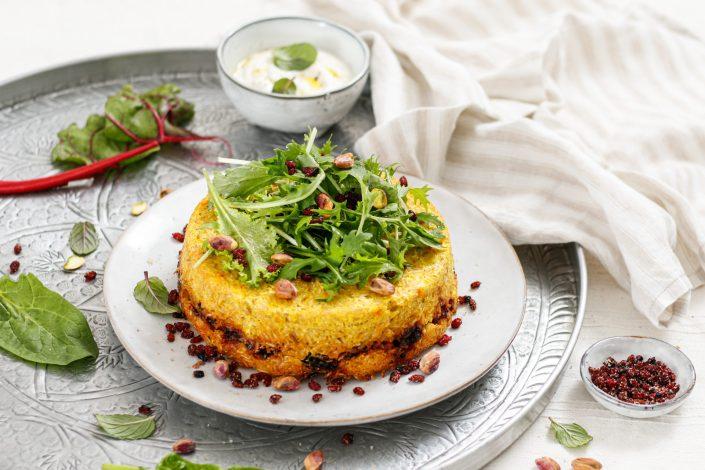 LUST AUF TAHCHIN? Traditioneller Reiskuchen mit Safran und Berberitzen - ein Rezept aus der Küche Persiens