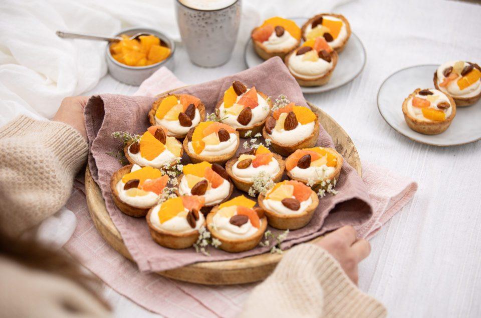 AUF EINEN SOMMER VOLLER SCHÖNER NASCHMOMENTE! Tartelettes mit Mascarponecreme und Zitrusfrüchten